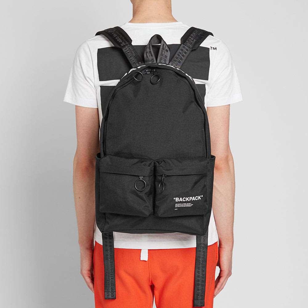 6642f6c94462b1 Off-White Quote Backpack Black | END.