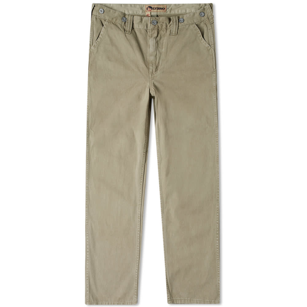 68fcfc267e4776 Nigel Cabourn x Lybro Military Pant Washed Army | END.