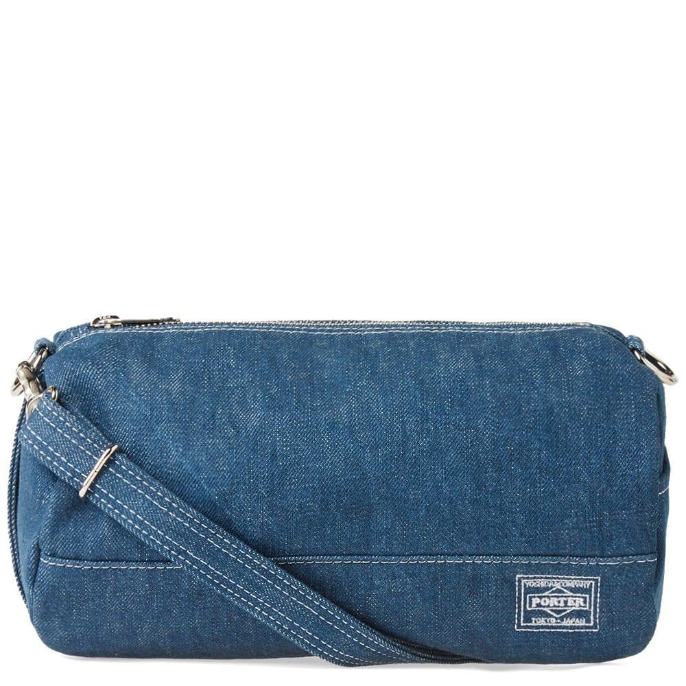 732a6c8f58 Head Porter Denim Barrel Shoulder Bag