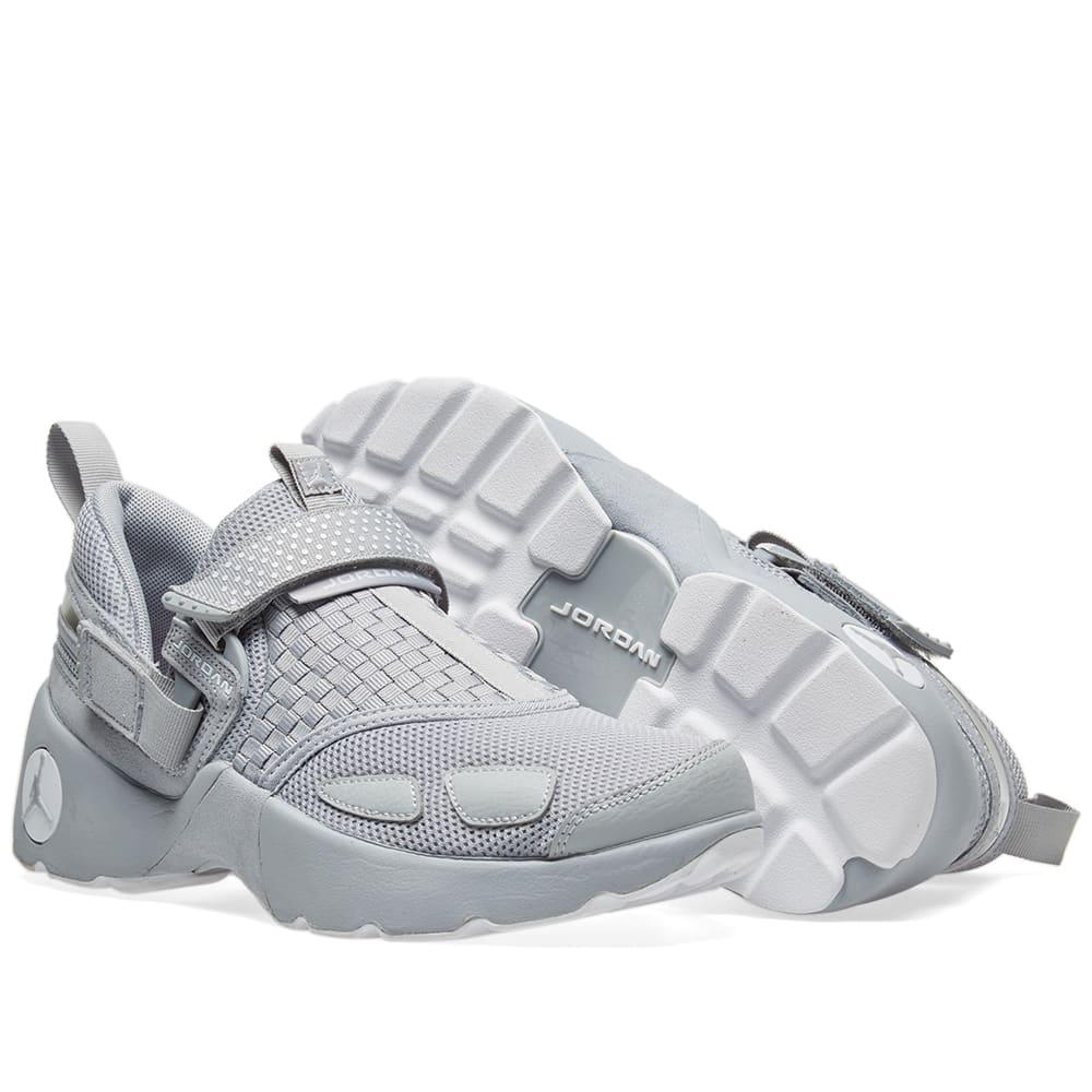 reputable site 574fb 96939 Nike Air Jordan Trunner LX. Wolf Grey   White