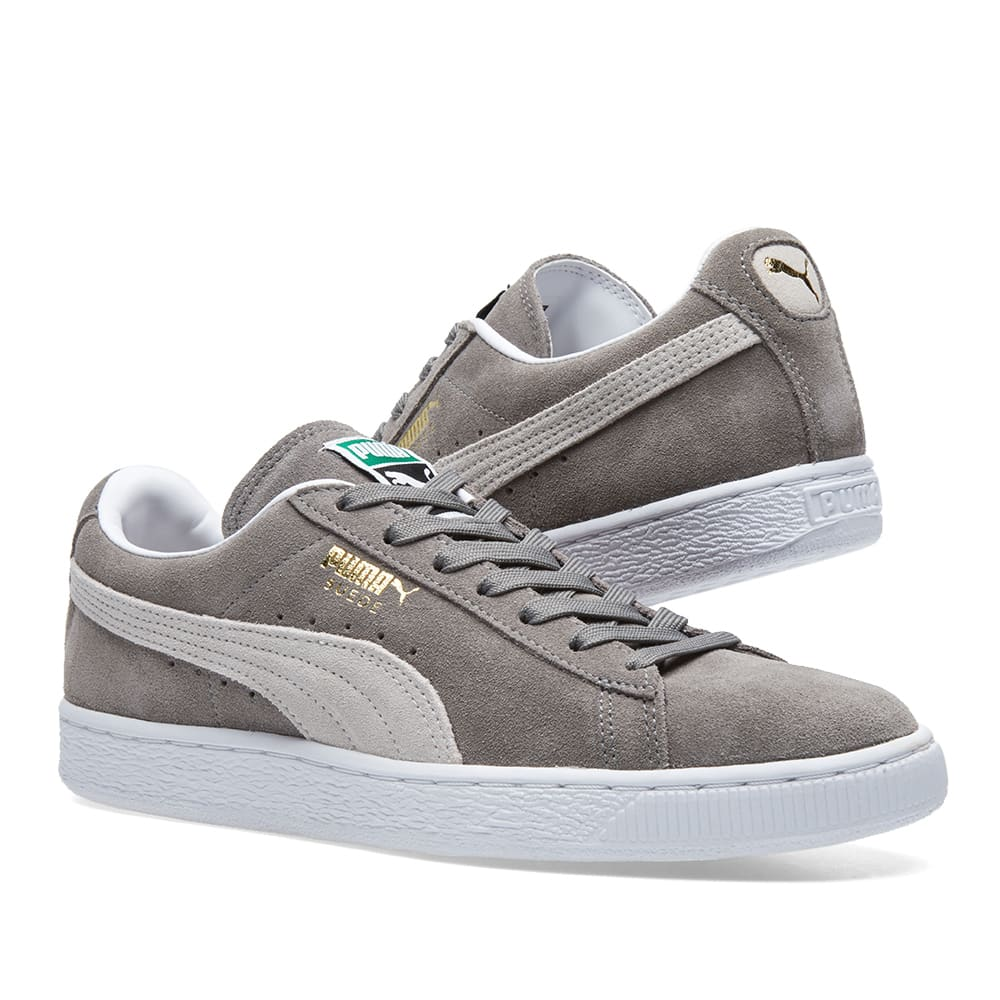puma suede classic steeple grey white. Black Bedroom Furniture Sets. Home Design Ideas