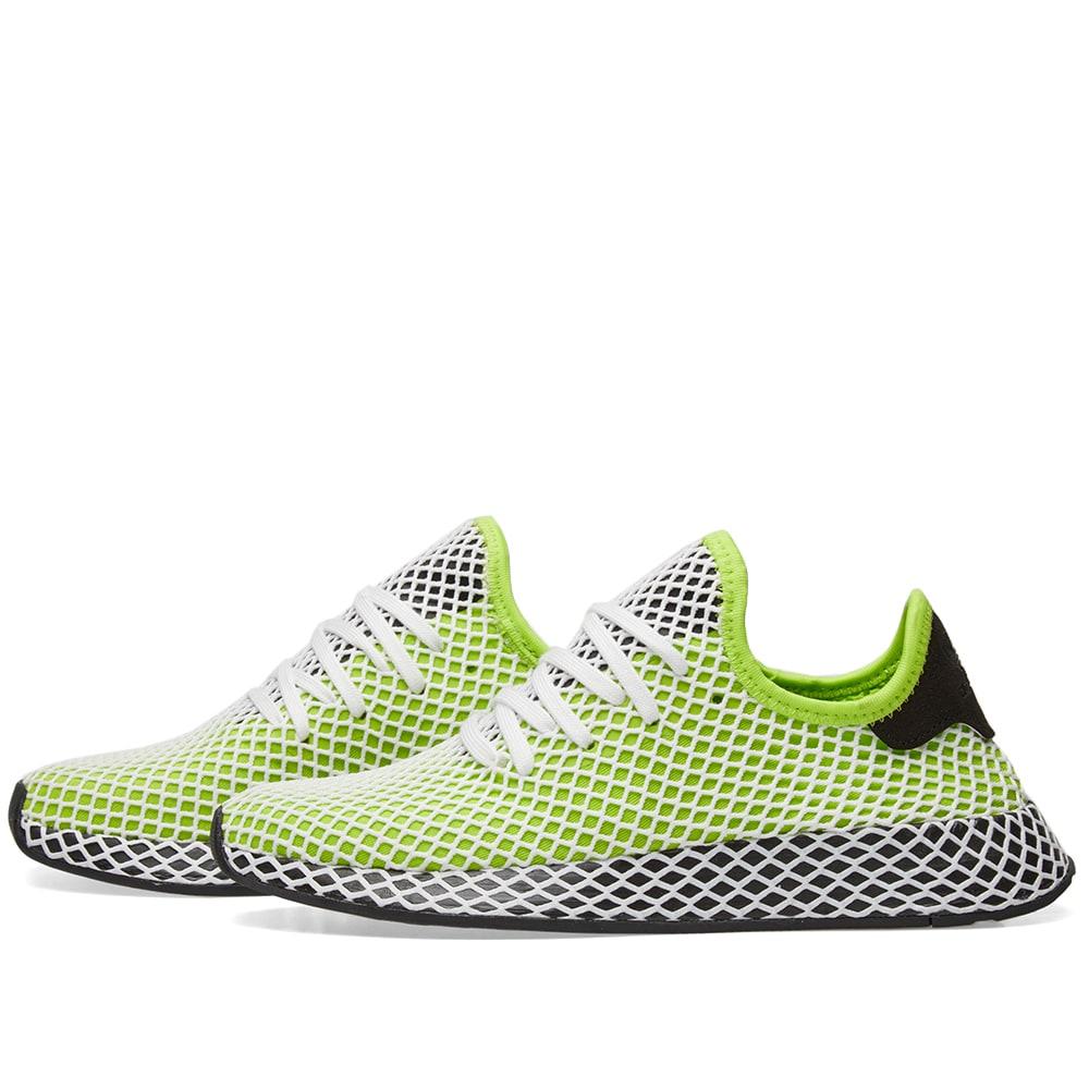 e55c0130f286a Adidas Deerupt Runner Semi Solar Slime   Black