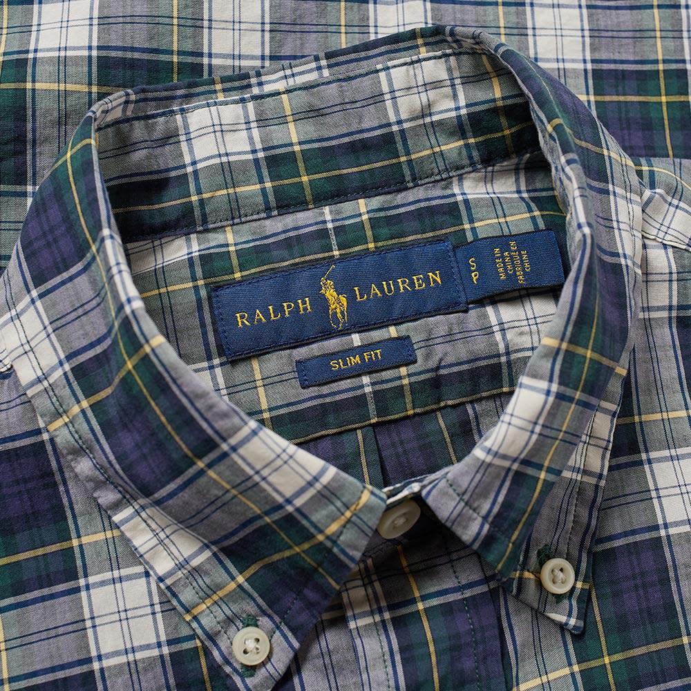 36f520be Polo Ralph Lauren Button Down Check Poplin Shirt Green & Yellow | END.