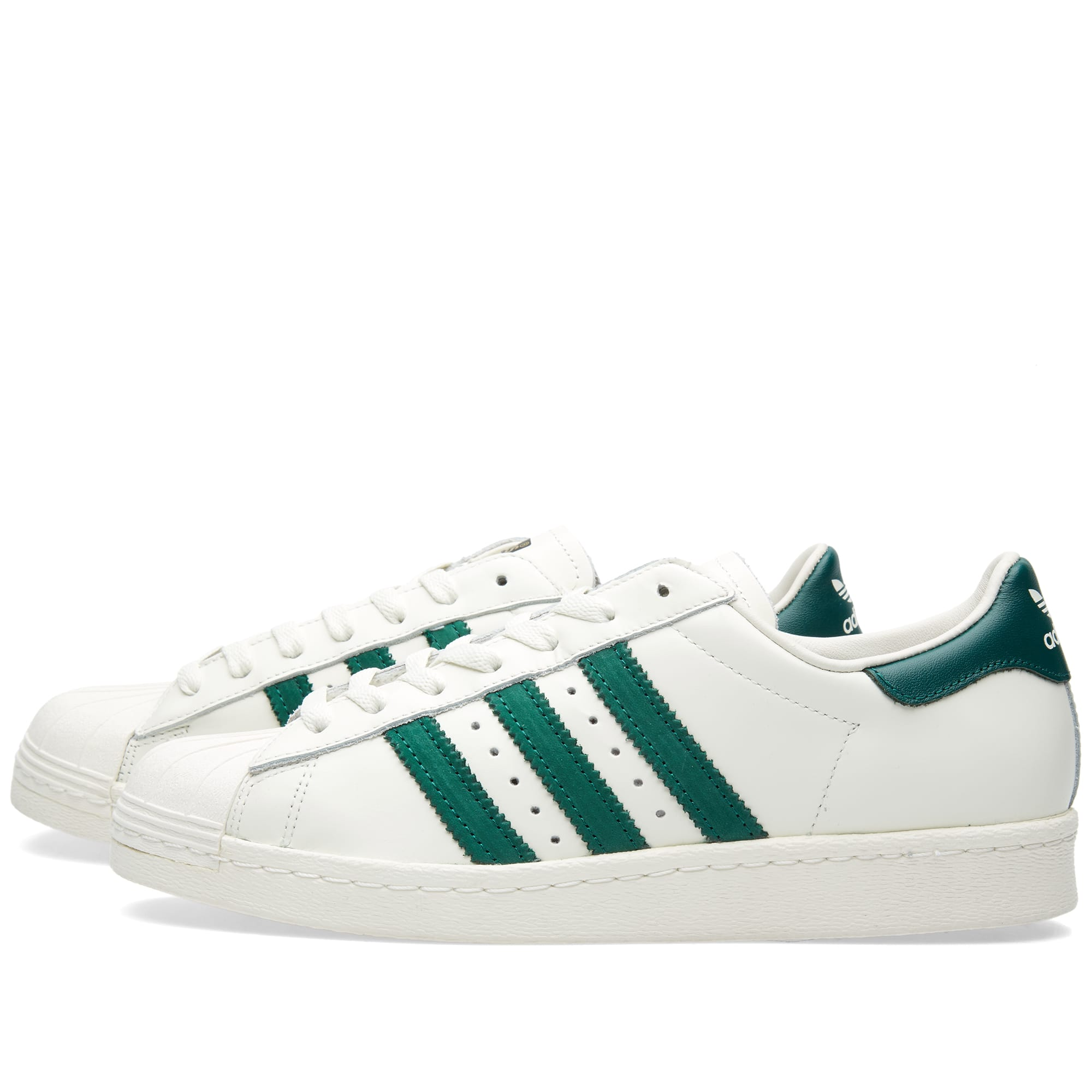 Superstar 80s Delux Shoes Vintage WhiteGreen