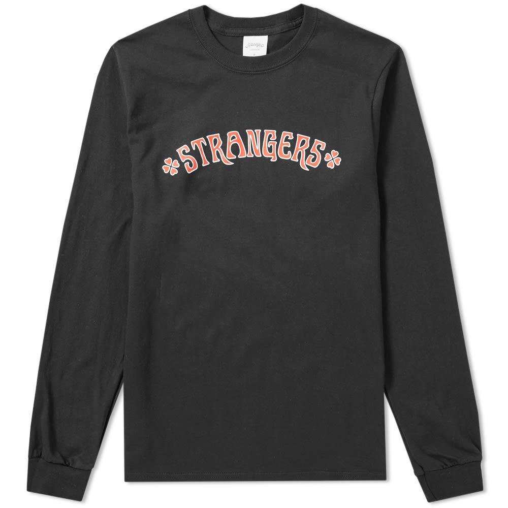 STRANGERS Strangers Long Sleeve Heart Breakers Tee in Black