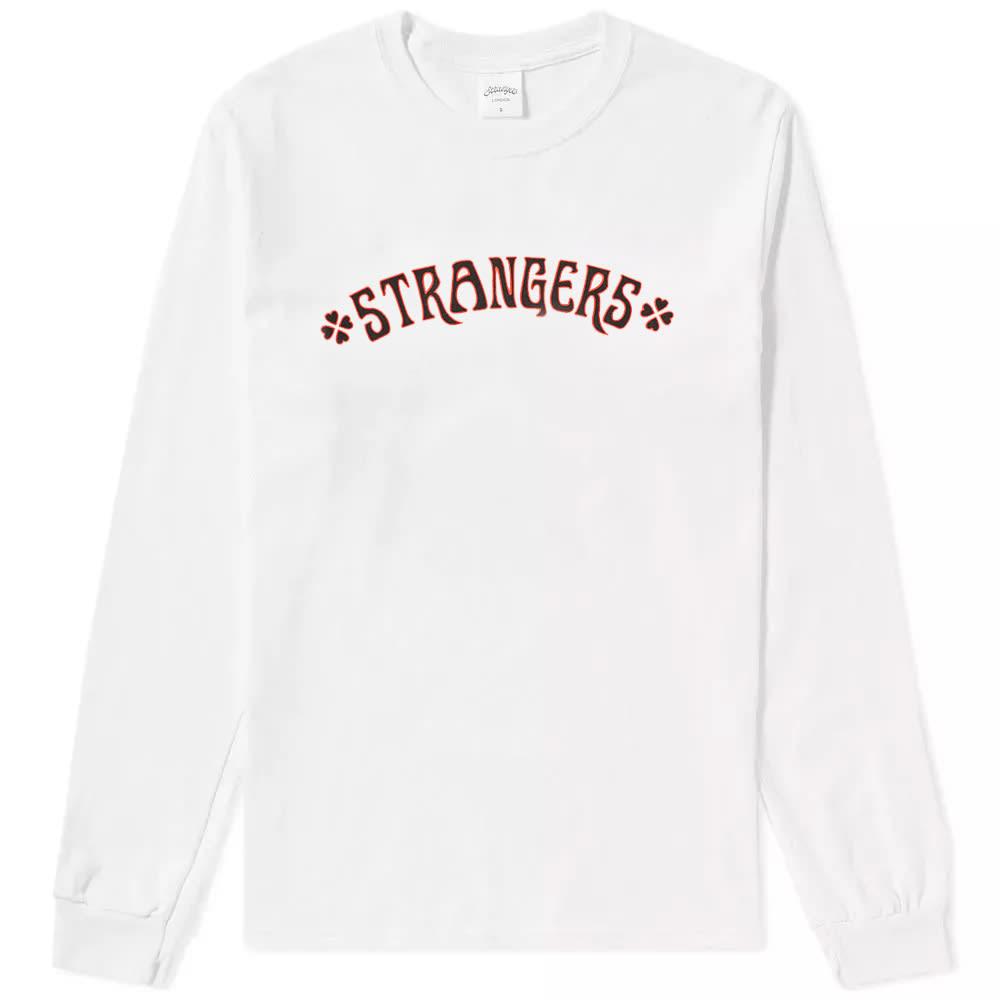 STRANGERS Strangers Long Sleeve Heart Breakers Tee in White