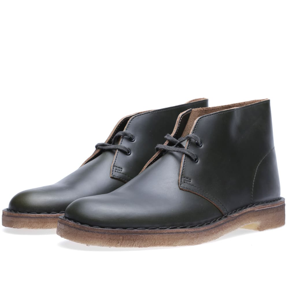 clarks originals x horween leather company desert boot dark green leather. Black Bedroom Furniture Sets. Home Design Ideas
