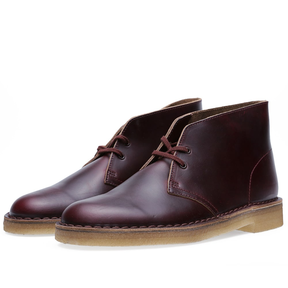 clarks originals x horween leather company desert boot burgundy leather. Black Bedroom Furniture Sets. Home Design Ideas