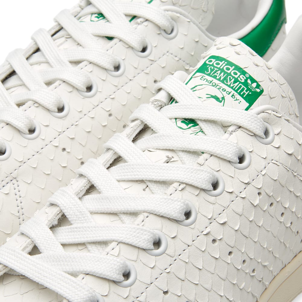 5735b40542c Adidas Women s Stan Smith Snake W Crystal White   Green