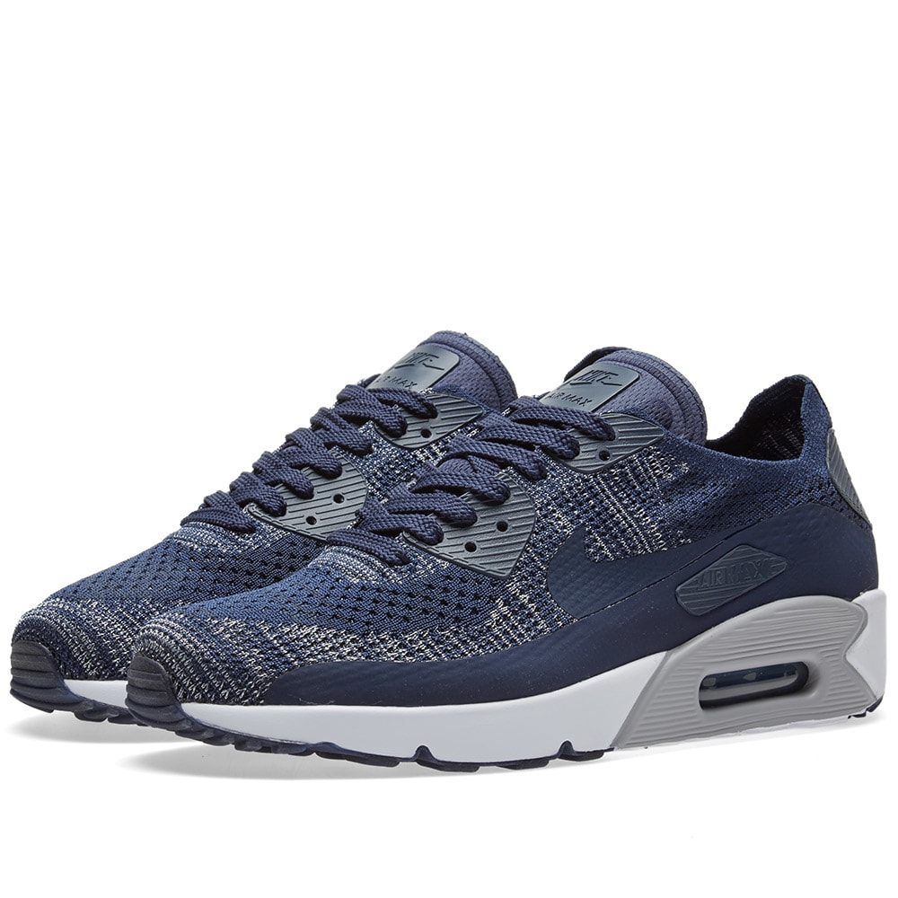 f6041d64bd04 Nike Air Max 90 Ultra 2.0 Flyknit College Navy   Wolf Grey