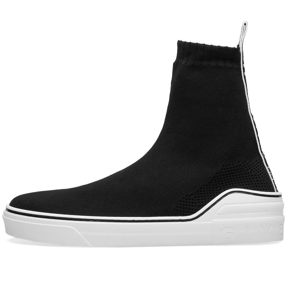 d1b0c785f44 Givenchy 4G Logo Webbing Sock Sneaker Black   White