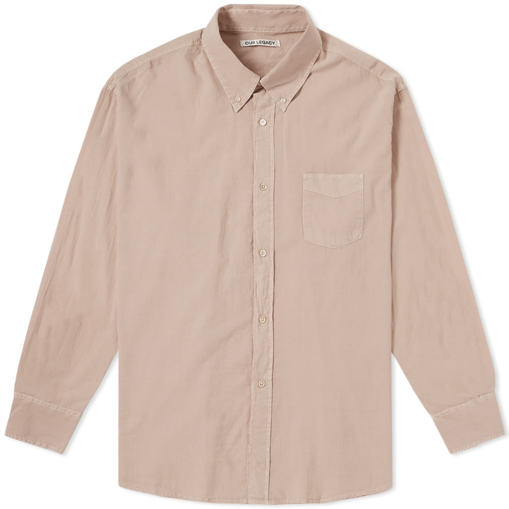 OUR LEGACY Button-Down-Hemd In Oversized-Passform in Pink