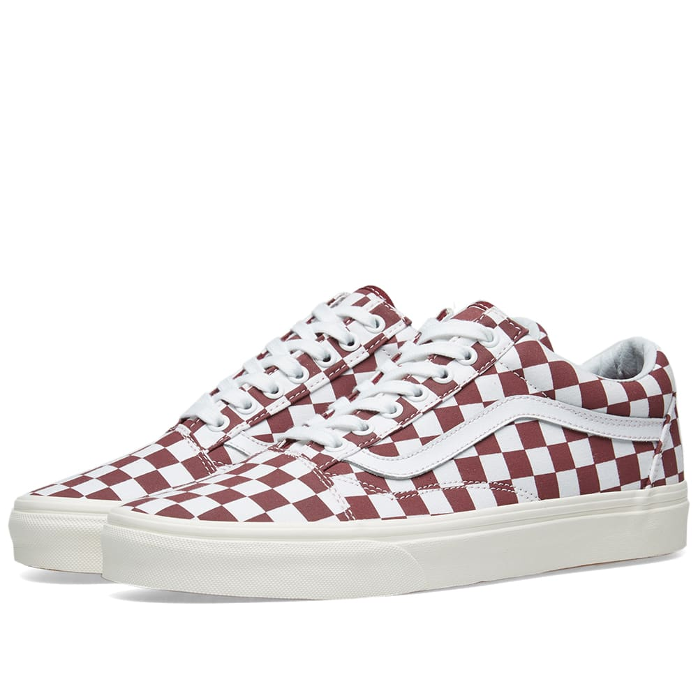 7453ecbd416e89 Vans Old Skool Checkerboard Port Royale   Marshmallow