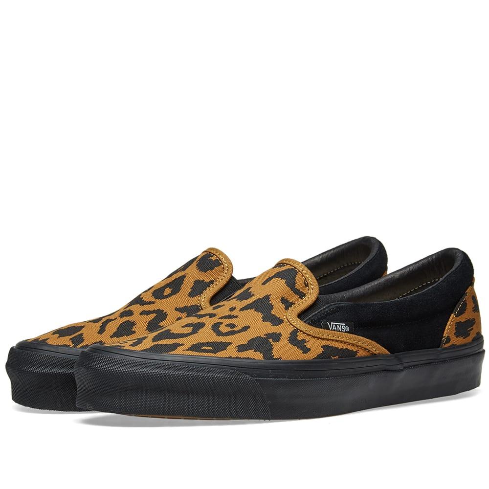 44f1cbc28d Vans Black And Yellow Vault Ua Og Leopard Print Slip On Sneakers ...