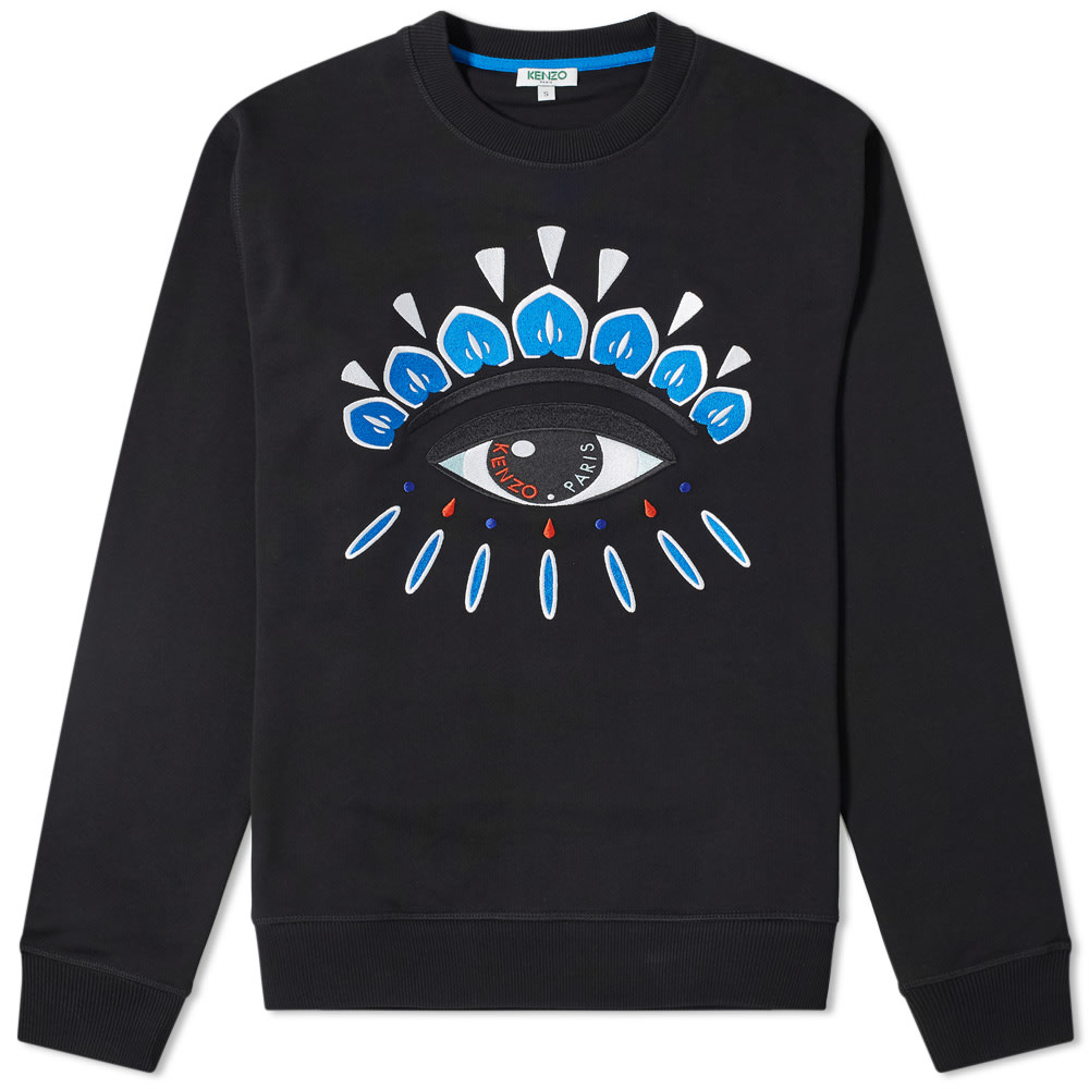 adc9b711418aa Kenzo Embroidered Eye Crew Sweat Black | END.