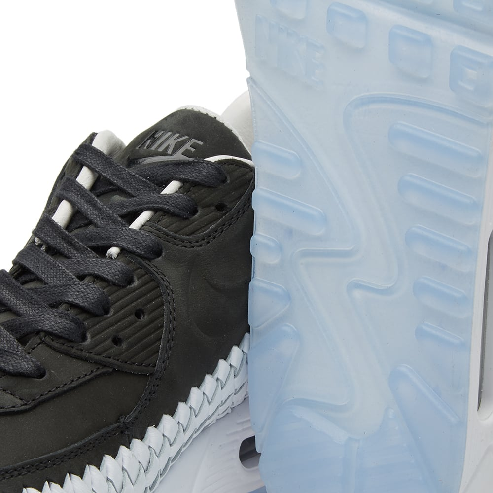 buy popular 6d177 8bf7a Nike Air Max 90 Woven Black, White & Pure Platinum   END.