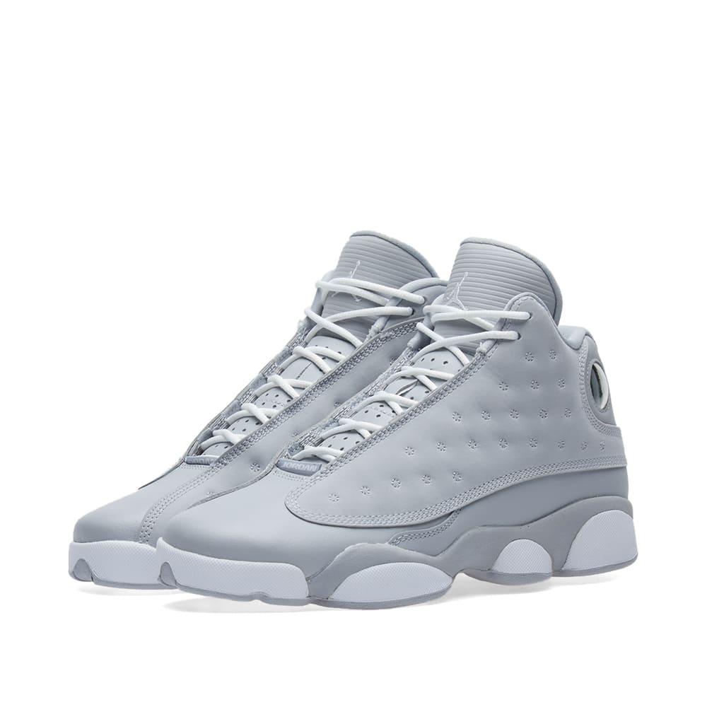 4b8fc7ce58cef2 Nike Girls  Air Jordan 13 Retro GS Wolf Grey
