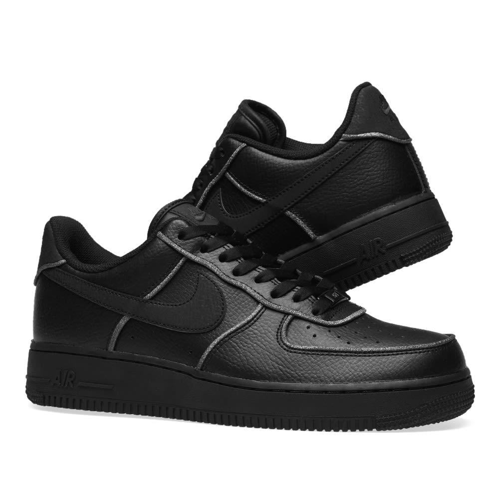 W Air Force 1 LO Black Black White AT0073 001