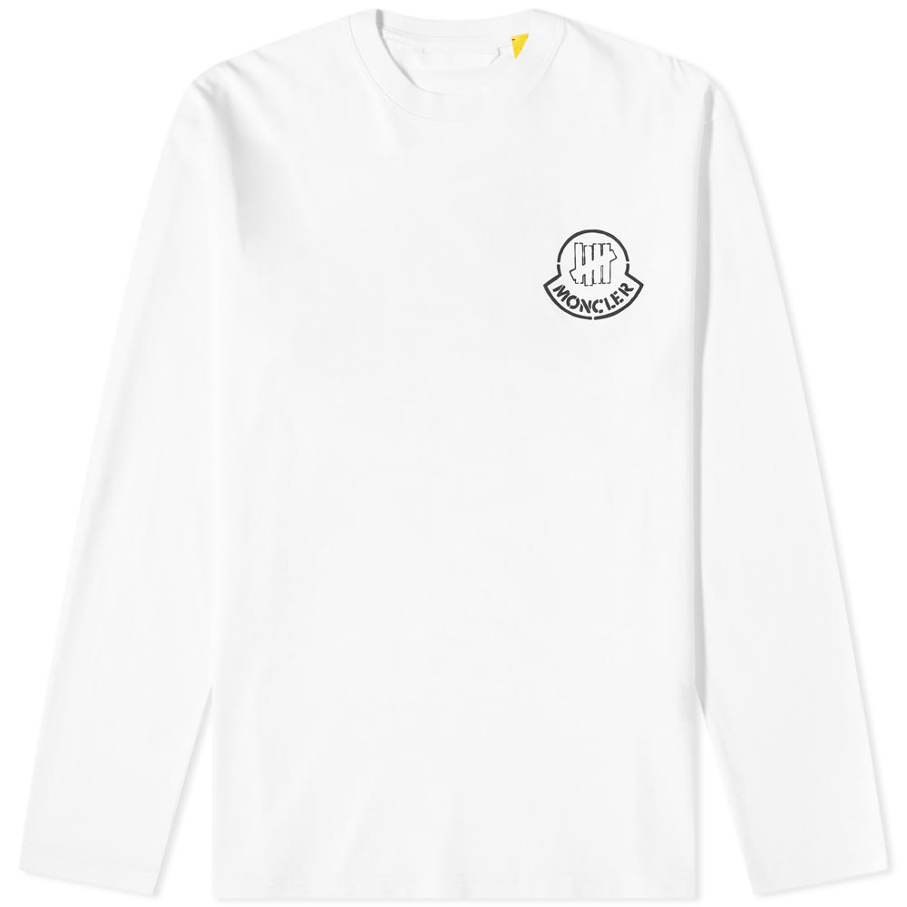 Moncler Genius Tops Moncler Genius 2 Moncler 1952 x Undefeated Long Sleeve Front and Back Logo Print Tee