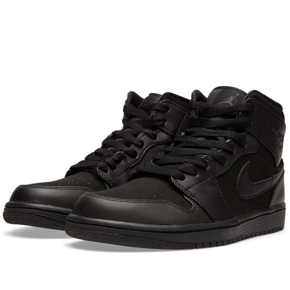 Nike Air Jordan 1 Mid 'Triple Black