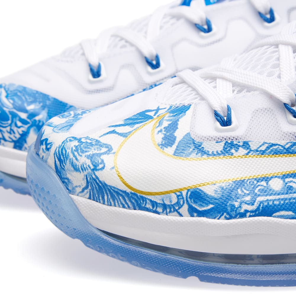 finest selection a6f8e fd0d0 Nike Max Lebron XI Low  China  White, Hyper Cobalt   Blue   END.