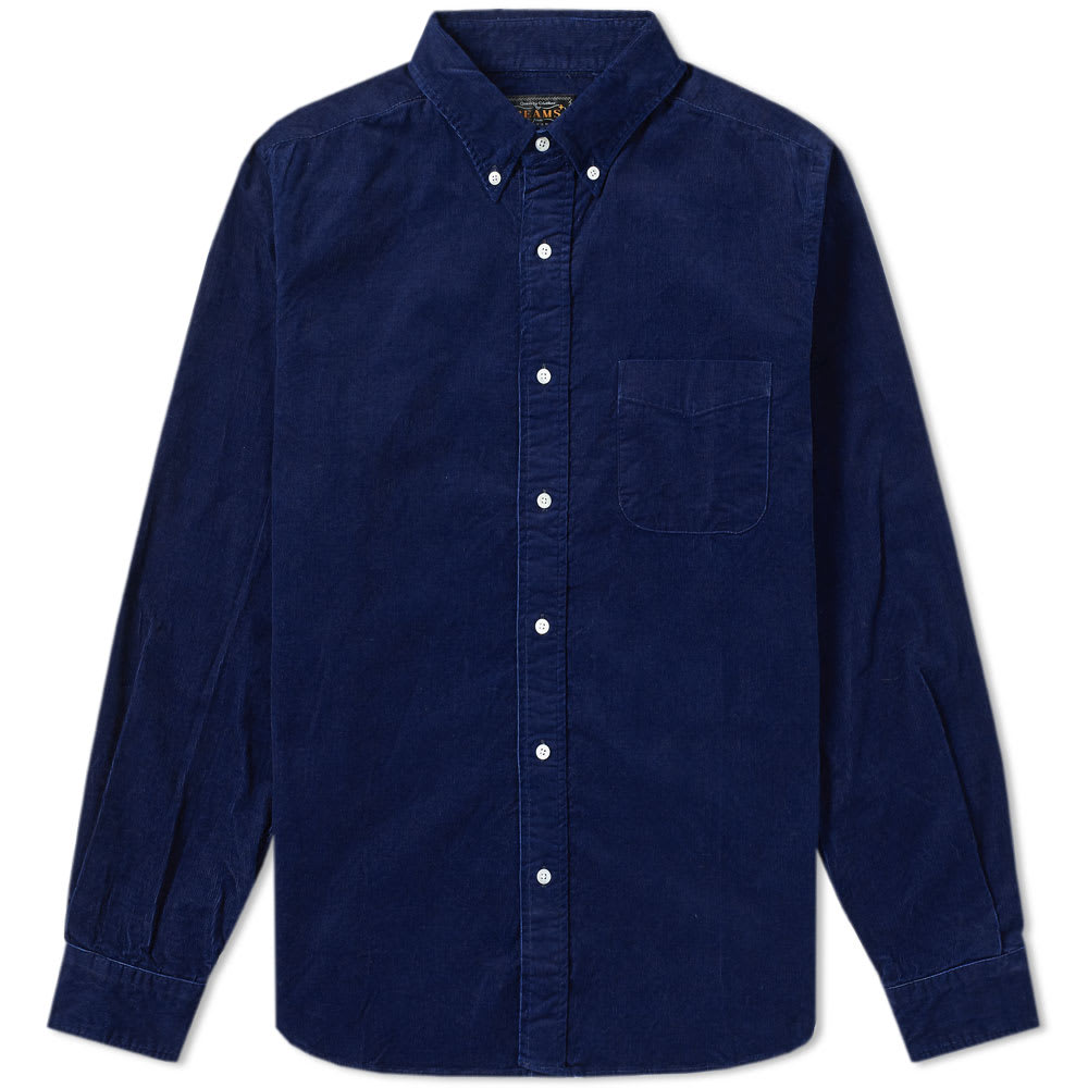 Beams Plus Button Down Corduroy Shirt