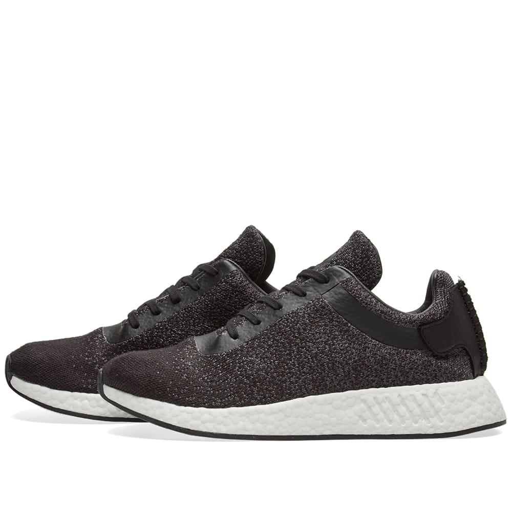 838f84e23 Adidas x Wings + Horns NMD R2 PK Core Black   Grey
