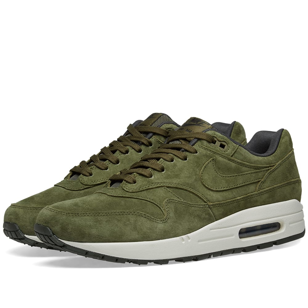 finest selection ccce1 b6b16 Nike Air Max 1 Premium Olive, Sequoia   Light Bone   END.