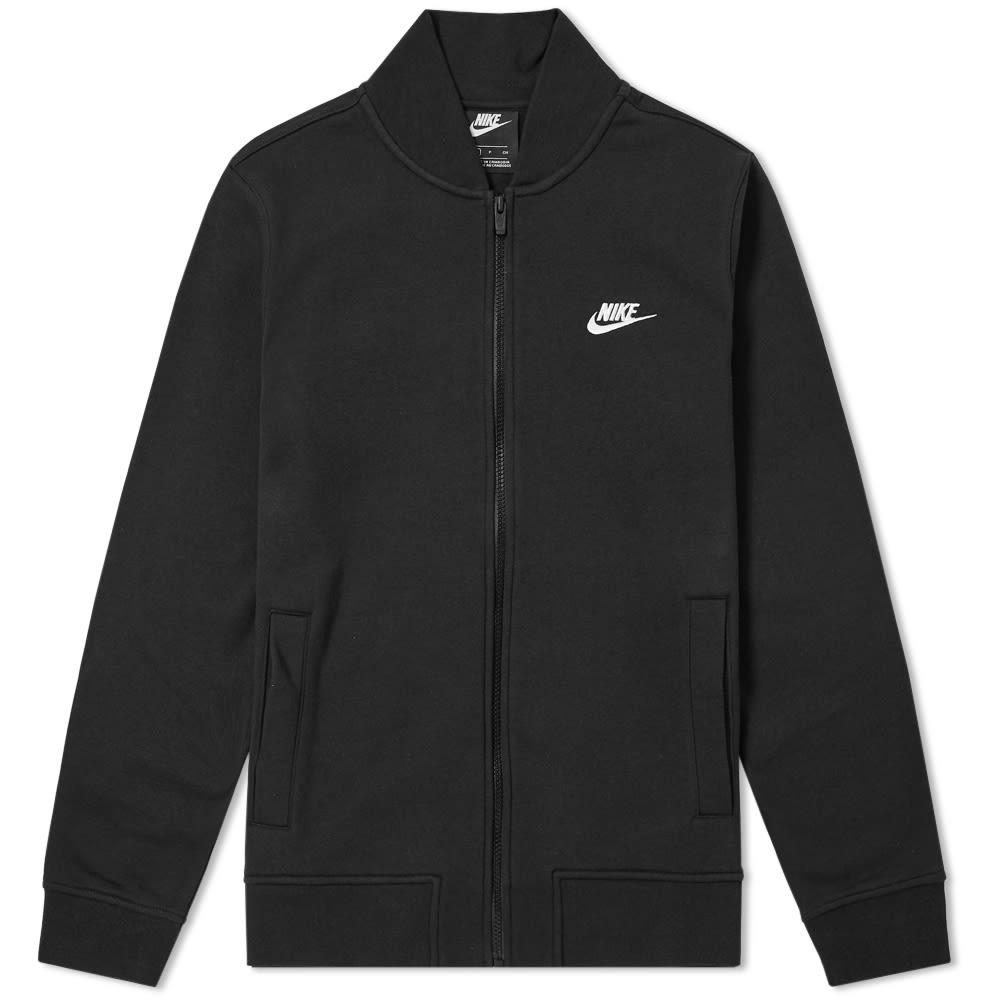 cf77f9fde3 Nike Club Bomber Jacket. Black & White