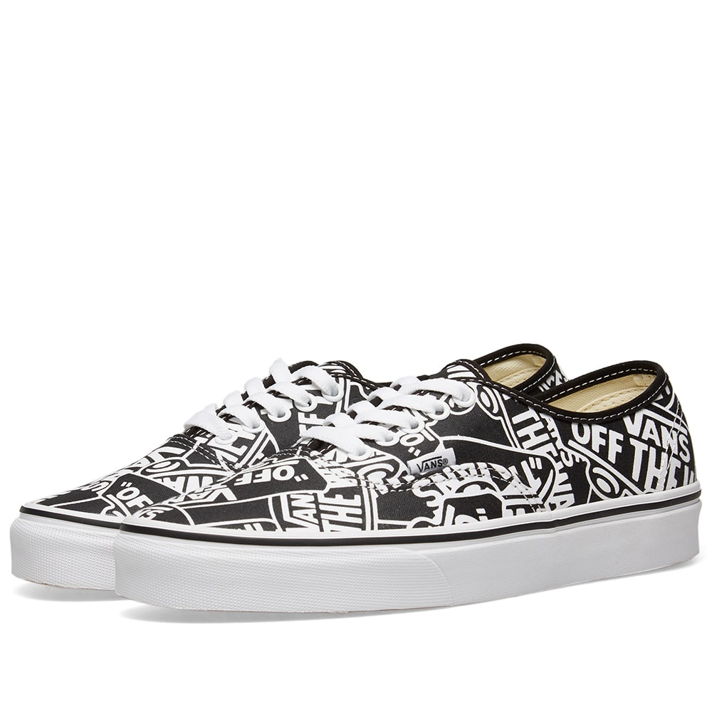 487d4265a2 Vans Off The Wall Printed Authentic Black   True White