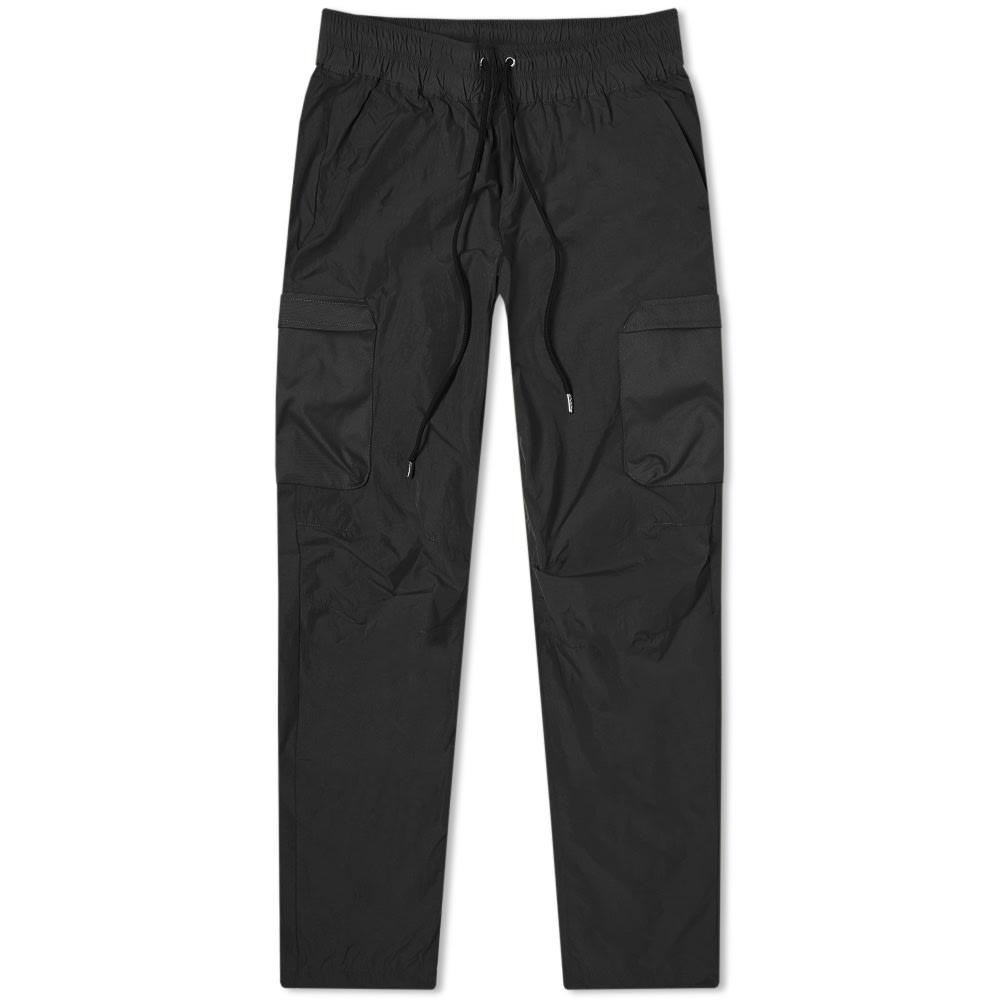 John Elliott High Shrunk Nylon Cargo Pant In Black