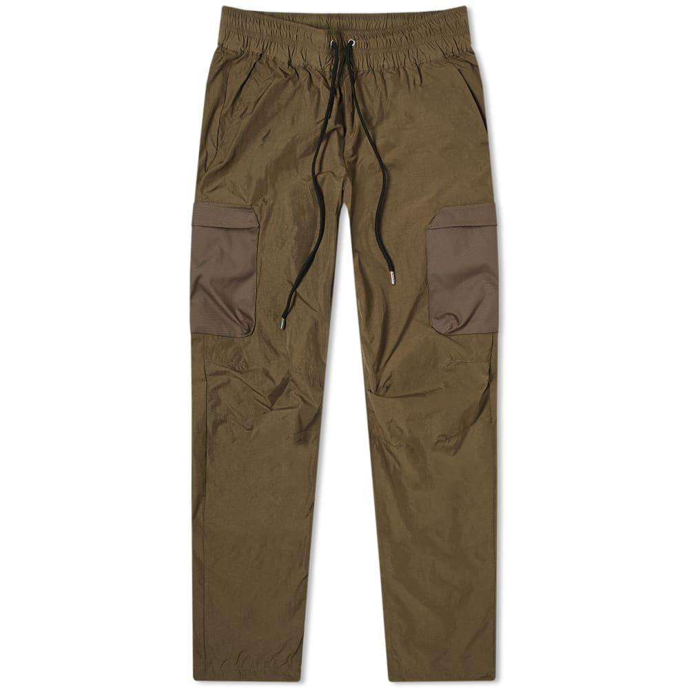 John Elliott High Shrunk Nylon Cargo Pant In Brown