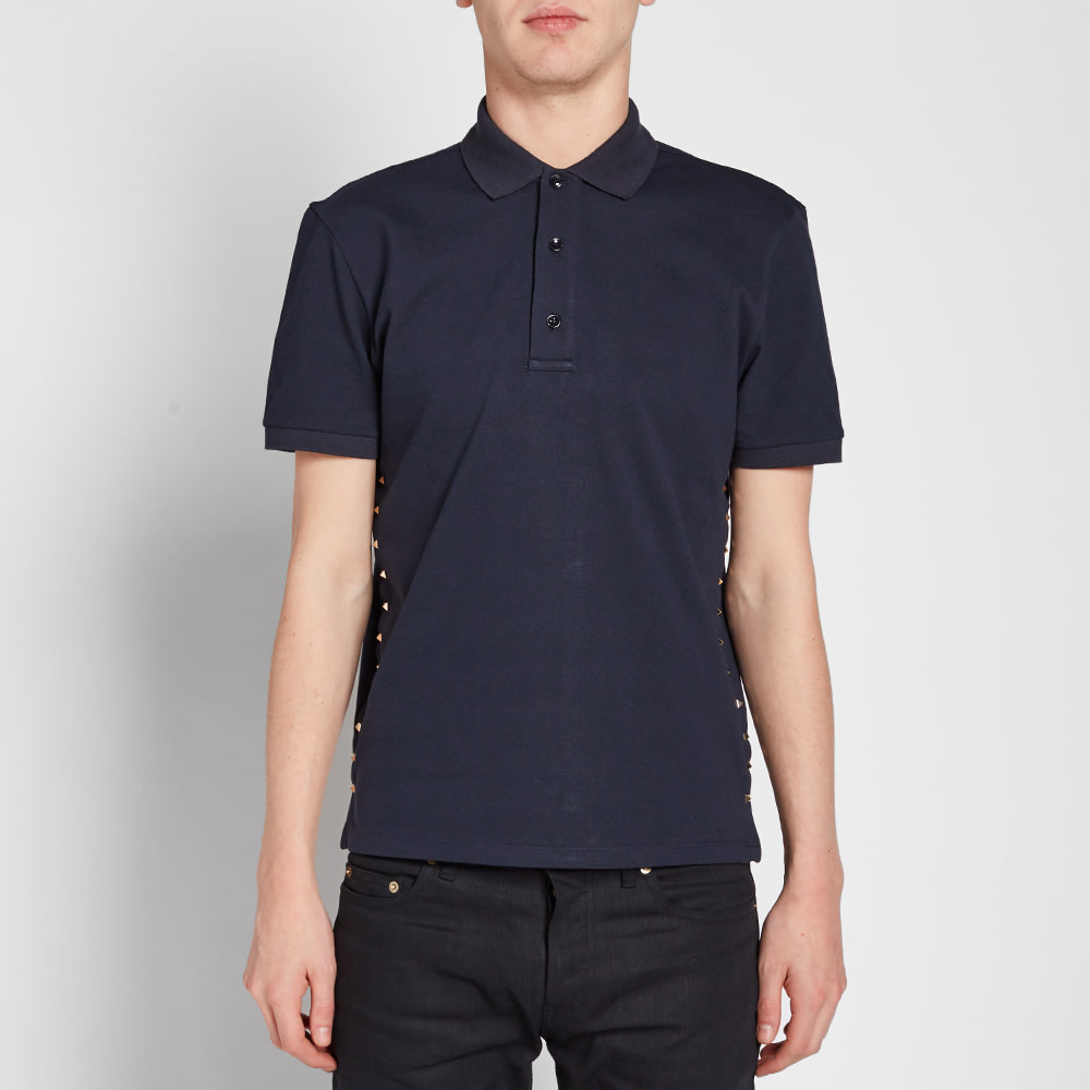b0da5150 Valentino Rockstud Untitled Multi Stud Polo Navy | END.