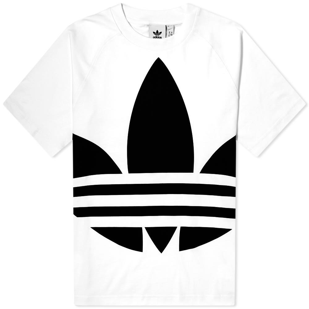 magro Problema Infinito  Adidas Big Logo Trefoil Tee White | END.