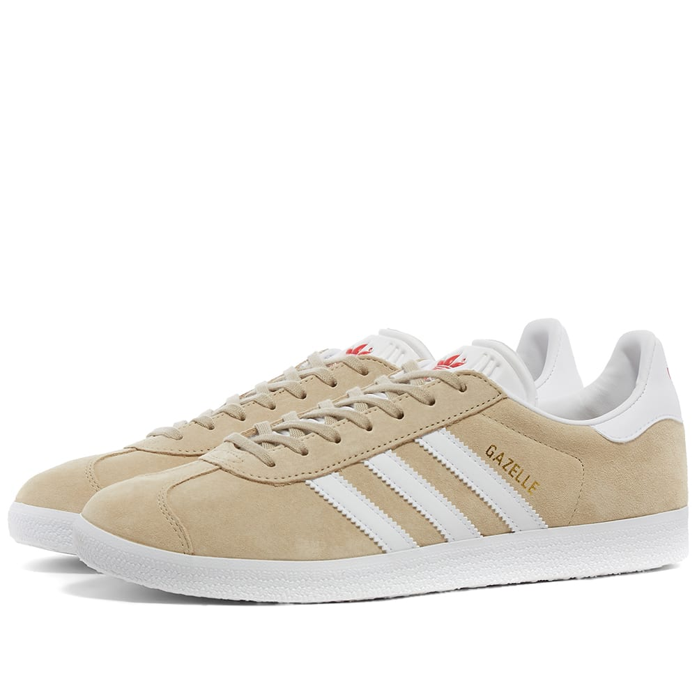 ruido Inmigración cada vez  Adidas Gazelle W Savannah, White & Red | END.