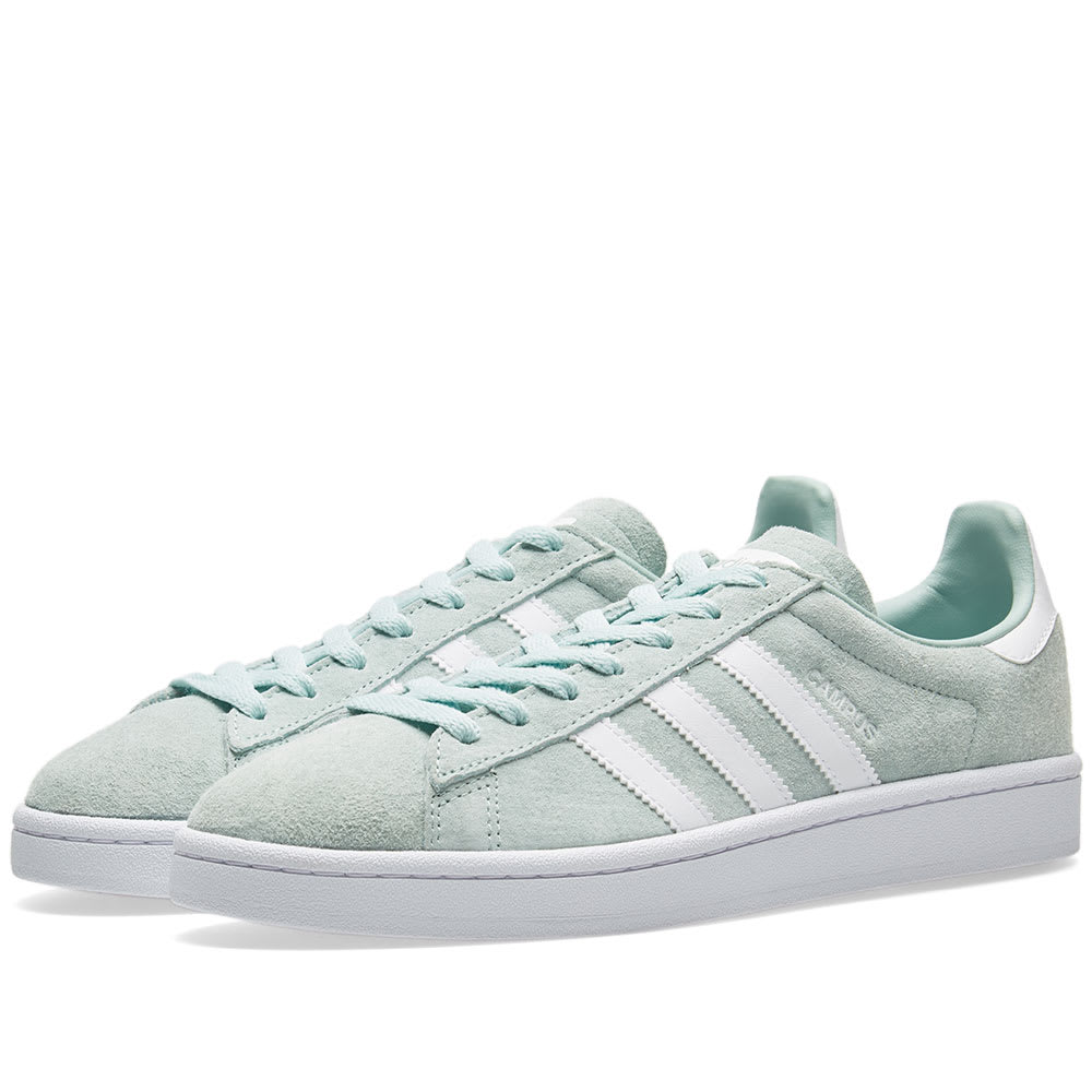 reputable site 01af3 fba9c Adidas Campus Ash Green   White   END.