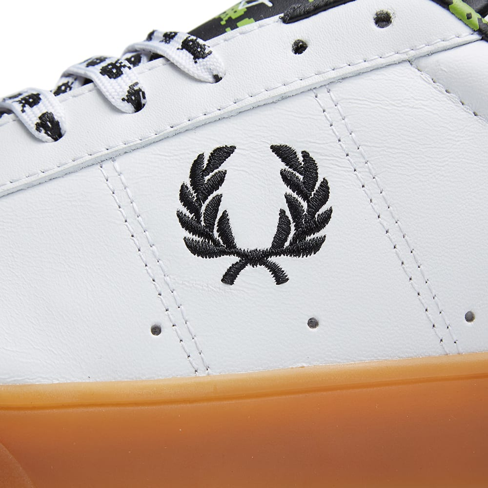 a593768a0 Fred Perry x Space Invaders Spencer Leather White   Black