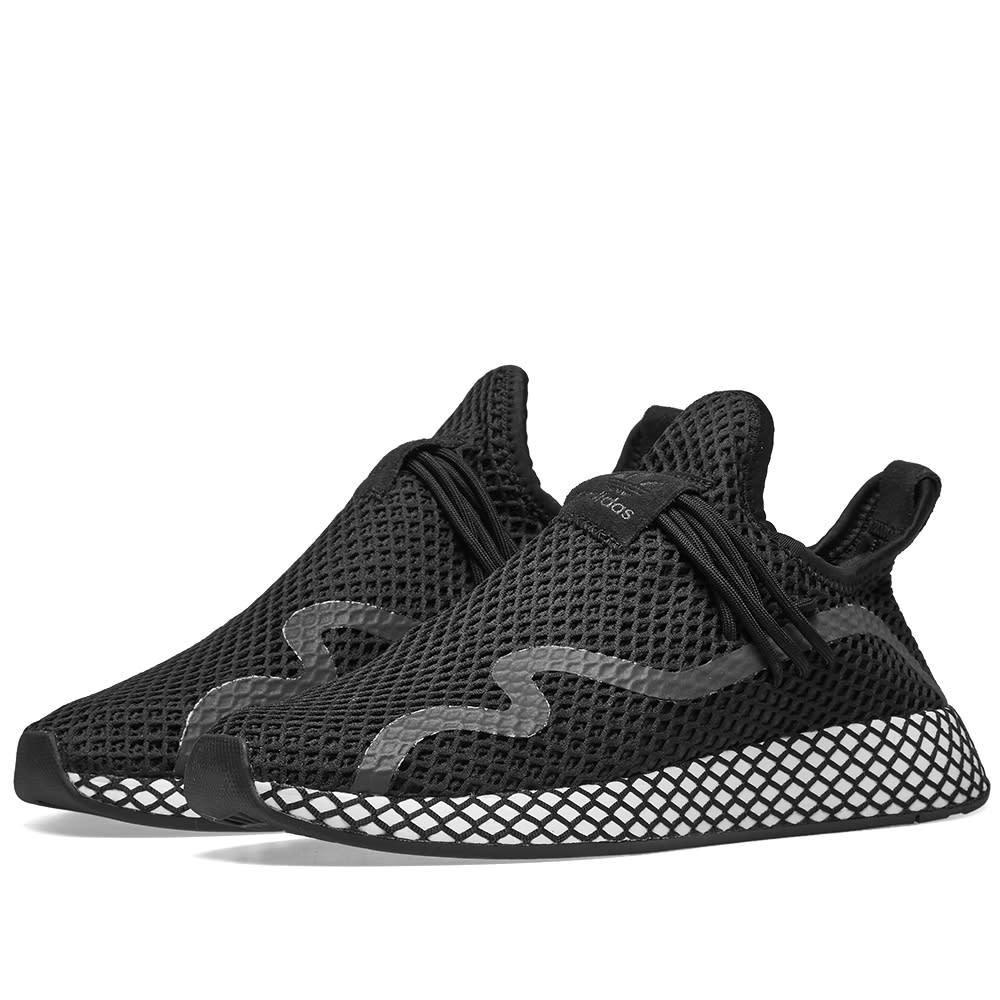 ca87ae504f2bf Adidas Deerupt S Runner Core Black   White