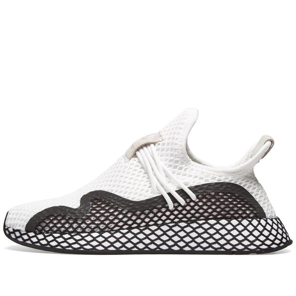 51e5a81c17b5a Adidas Deerupt S Runner White   Core Black