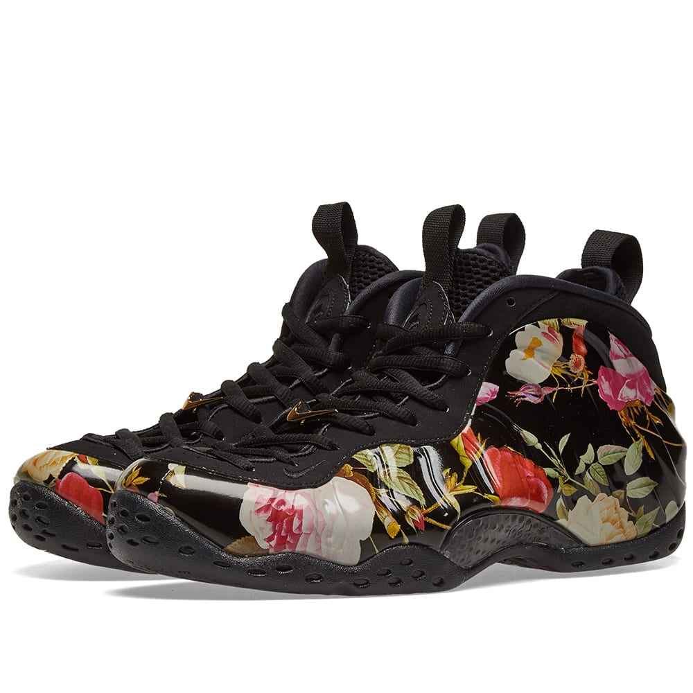 a5c340efc1135 Nike Air Foamposite One W  Floral  Black   Gold