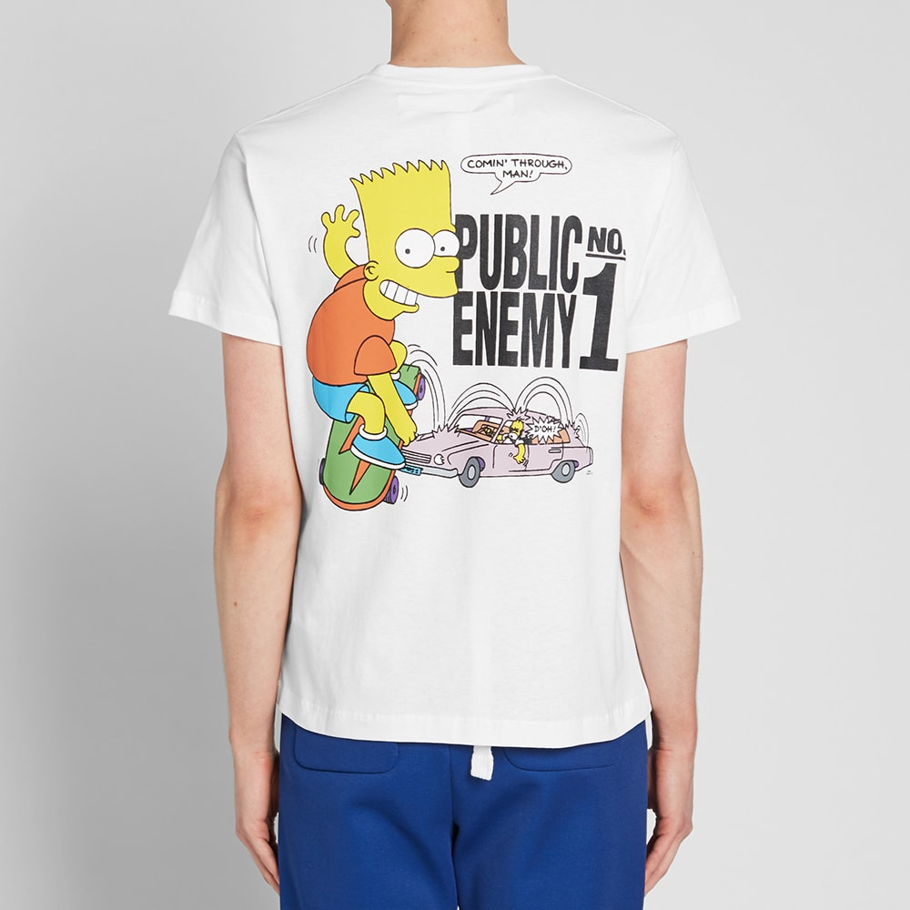 43a932ebd4d Off-White Bart Public Enemy Skinny Tee White