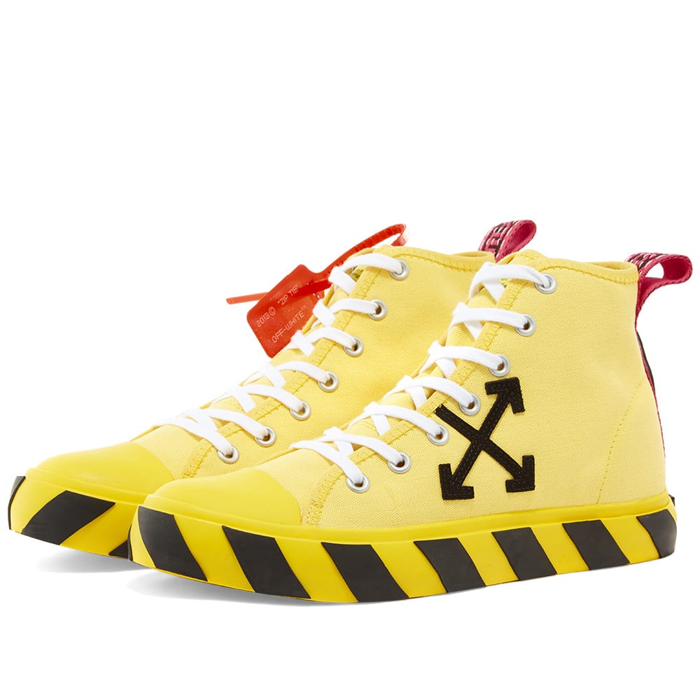 Off-White Mid Top Sneaker Yellow | END.