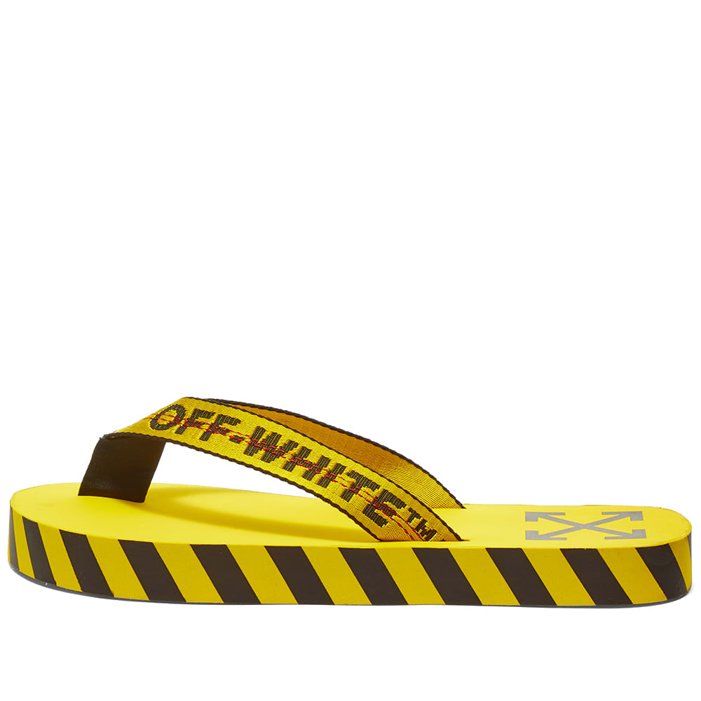 Off-White Flip Flops Yellow | END.