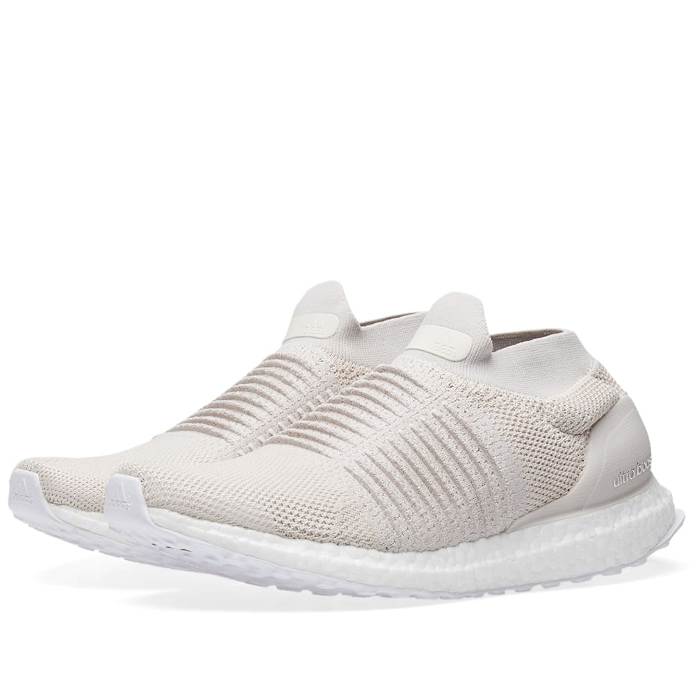 8aad70099 Adidas Ultra Boost Laceless Chalk Pearl   Linen