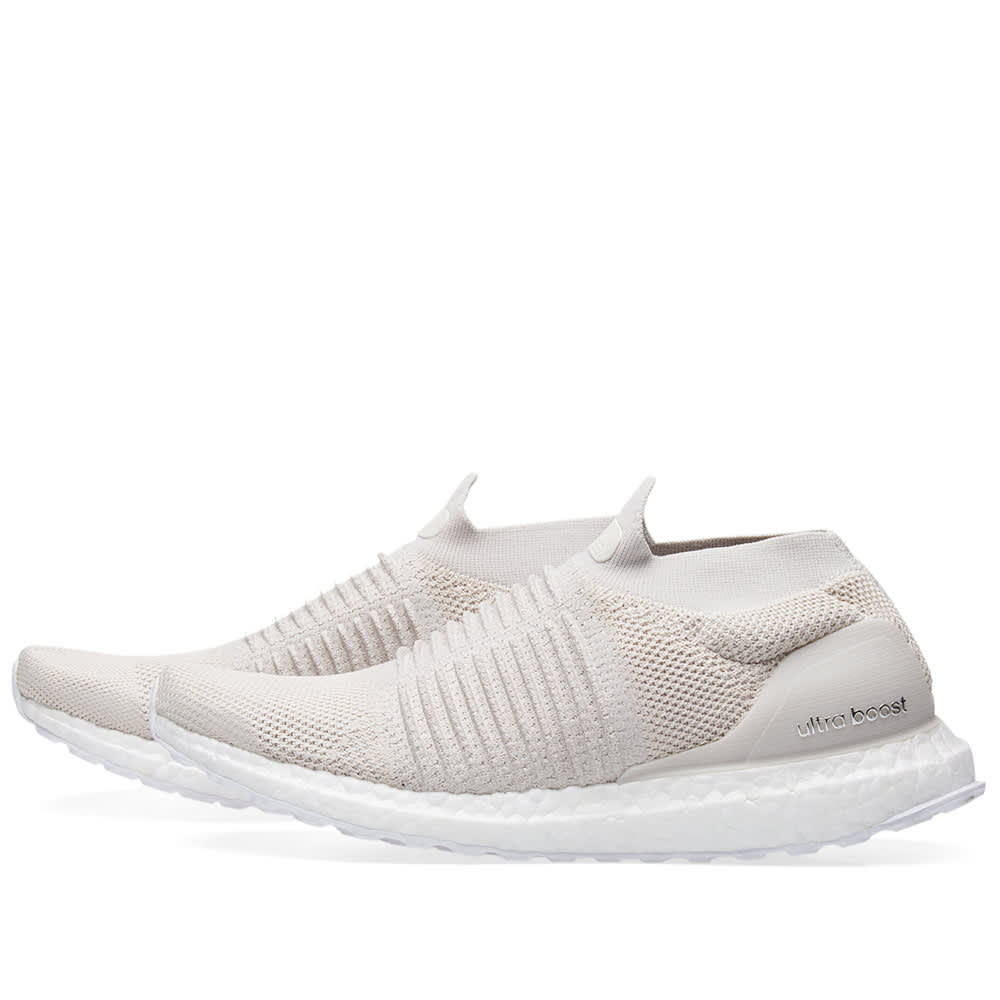 a352075018863 Adidas Ultra Boost Laceless Chalk Pearl   Linen