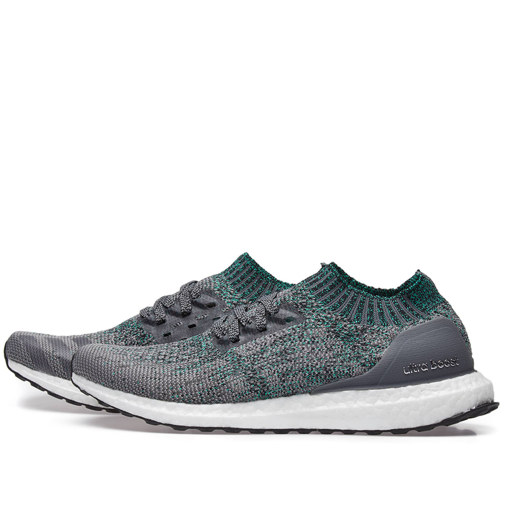low priced 2dfb6 0af59 Adidas Ultra Boost Uncaged Grey Two, Grey Five   Green   END.
