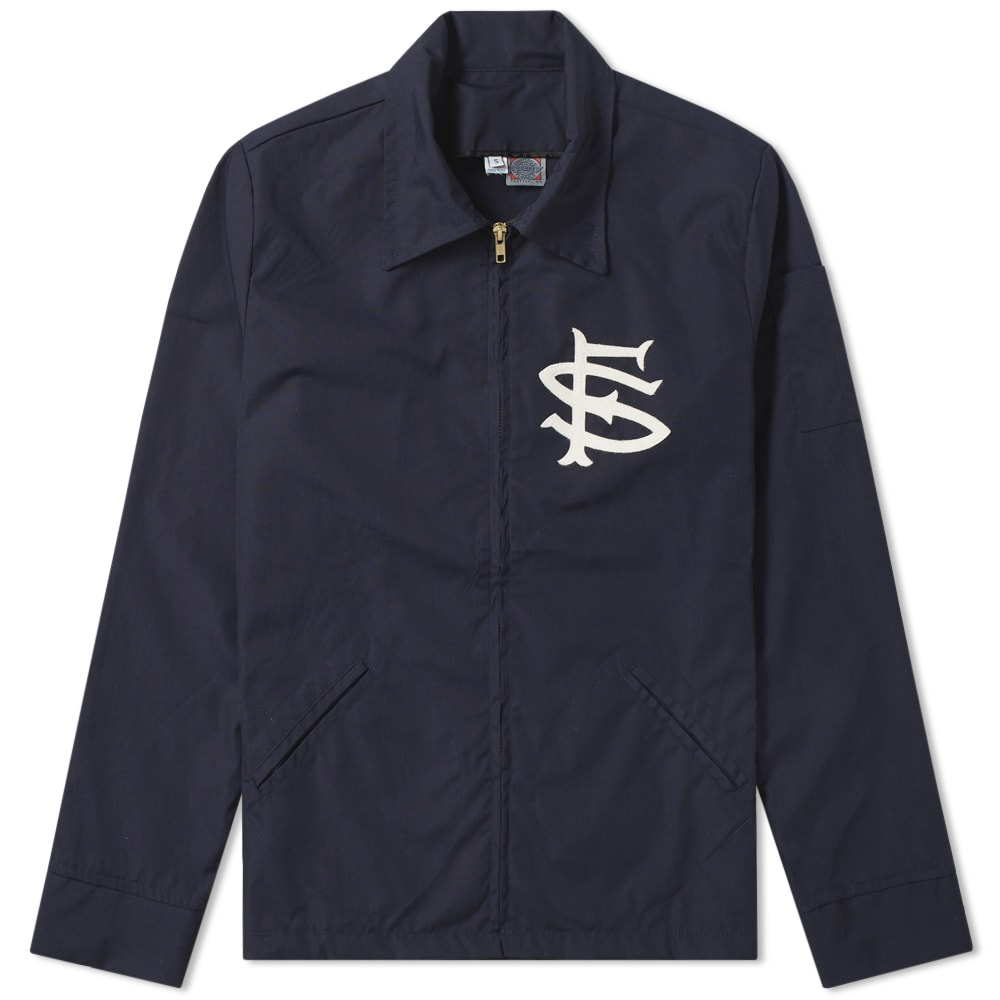 EBBETS FIELD FLANNELS Ebbets Field Flannels San Francisco Seals Ground Crew Jacket in Blue