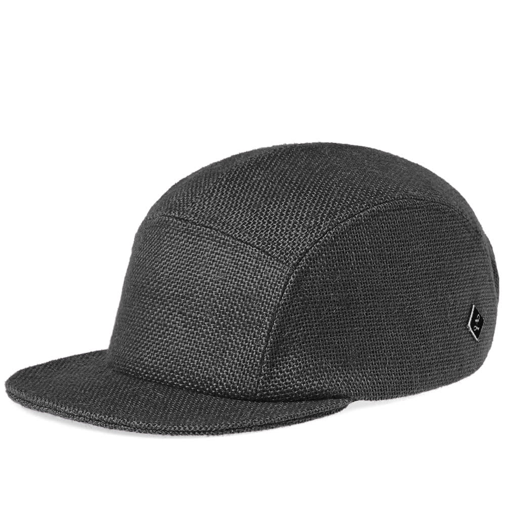 86113a10def Larose Paris Burlap 5-Panel Cap In Black