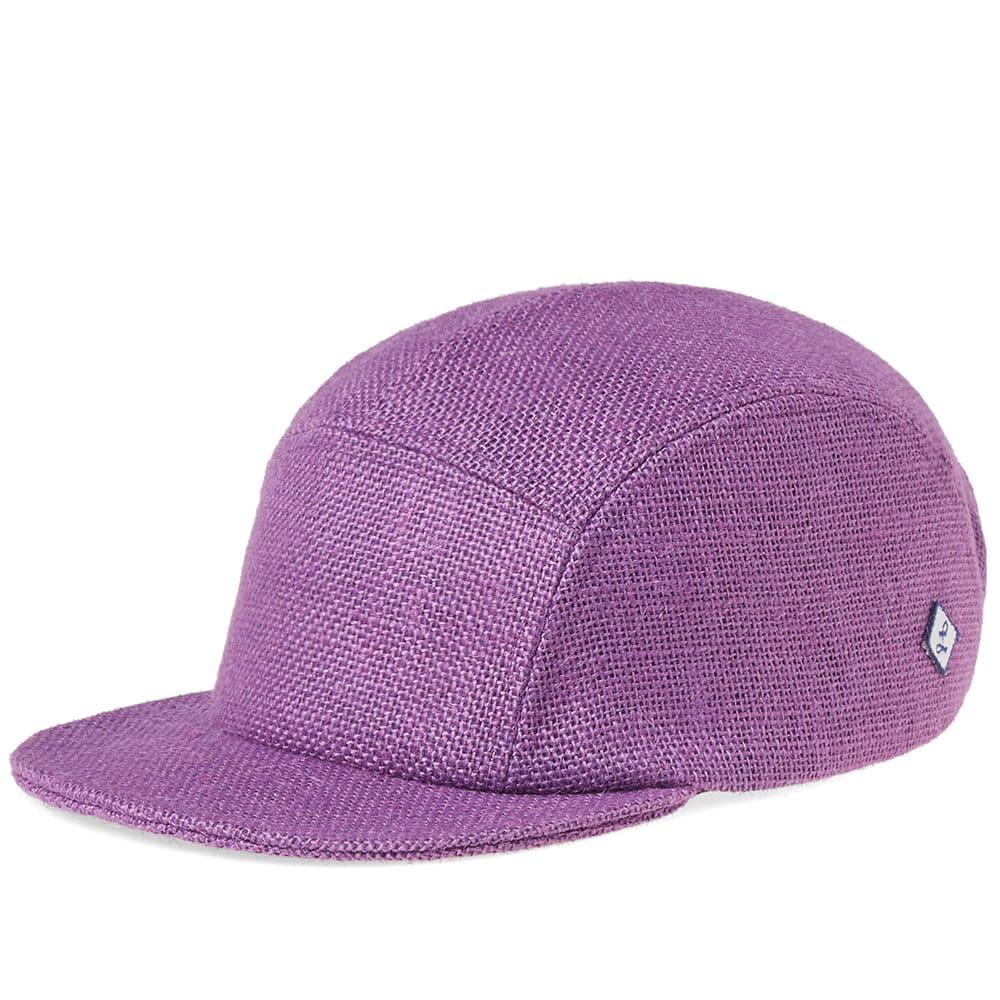 LAROSE PARIS BURLAP 5-PANEL CAP