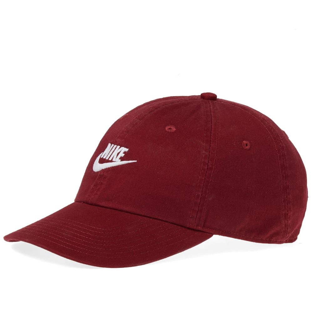 9076428100275 Nike Washed Futura Washed H86 Cap Team Red